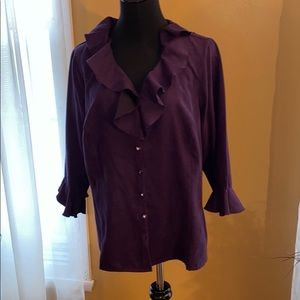 Avenue Purple Suede Blouse